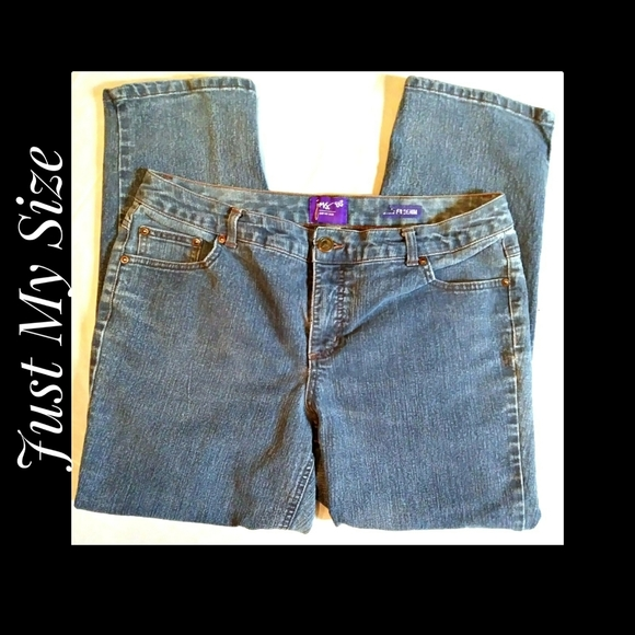 Just My Size 5 Pocket Blue Jeans Size 16WP Short